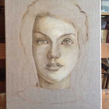 Face on Linen (2)