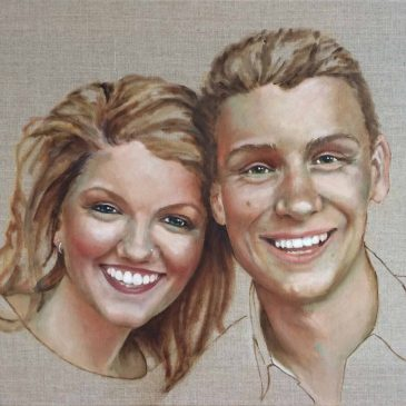 Anna and Charlie in Oils